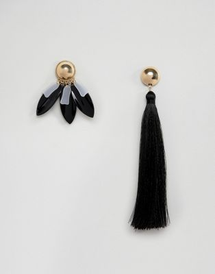 ASOS XL Tassel Mismatch Earrings