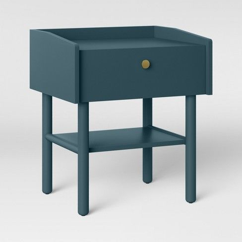 Wiley Side Table Blue Project 62 With Images Side Table Wood Side Table