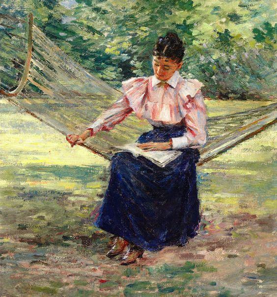 Girl in Hammock. Theodore Robinson (American, 1852-1896).