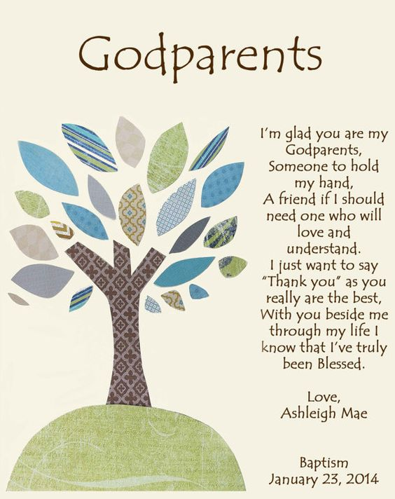 Godparents gift Personalized gift for Godmother by BoutiqueBlu