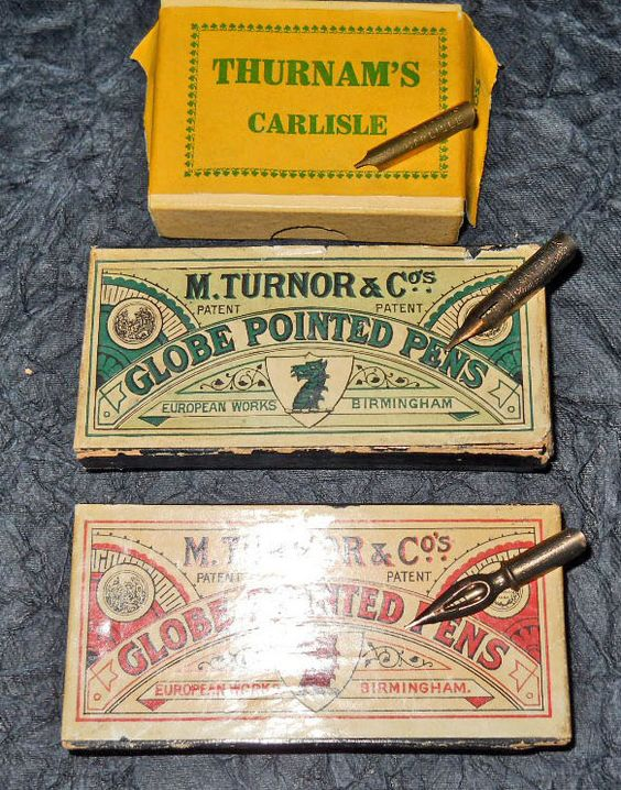 Two different English pen companies... Thurnam's and Turnor & Co ...