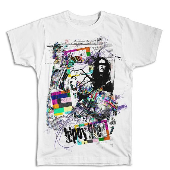 Hippy Life Hip Hop Collage T-shirt  Trilla by StreetwearDesigns