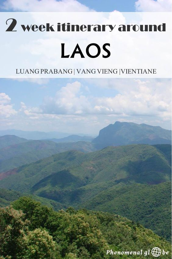 A 2 week itinerary for Luang Prabang, Vang Vieng and Vientiane in Laos. Information how to get from A to B and downloadable pfd with detailed travel information.