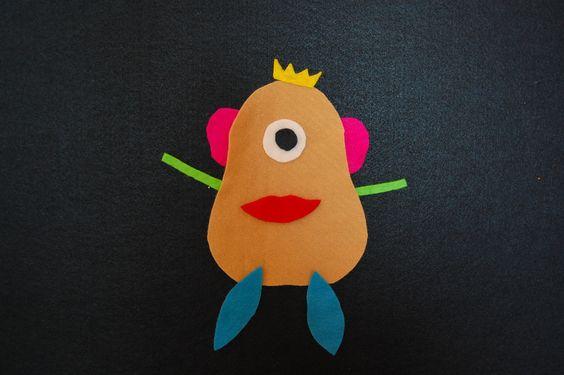 Mr Potato Head for felt board, PERFECT for Jace!