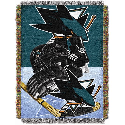San Jose Sharks NHL Woven Tapestry Throw (Home Ice Advantage) (48x60)