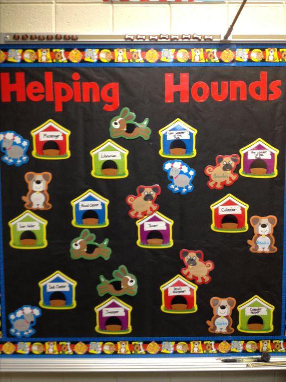 Classroom Pet Ideas ~ Dog theme classroom helping hounds bulletin board