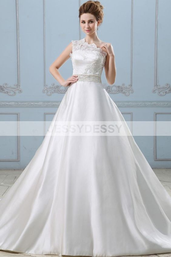 one shoulder satin wedding dress - Weddings Idea : Weddings Idea