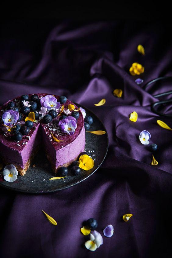 Call me cupcake: Vegan no bake blueberry lemon cheesecake