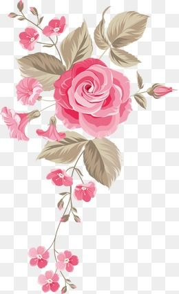 Painted Flowers Background Flowers Painted Png And Vector With