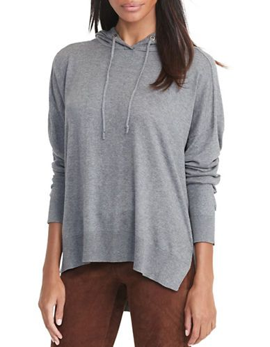 Lauren Ralph Lauren Cotton Jersey Hoodie Women's Concrete X-Small