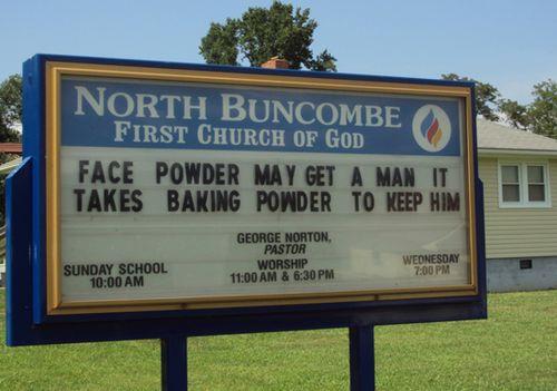 Face powder may get a man, it takes baking powder to keep him