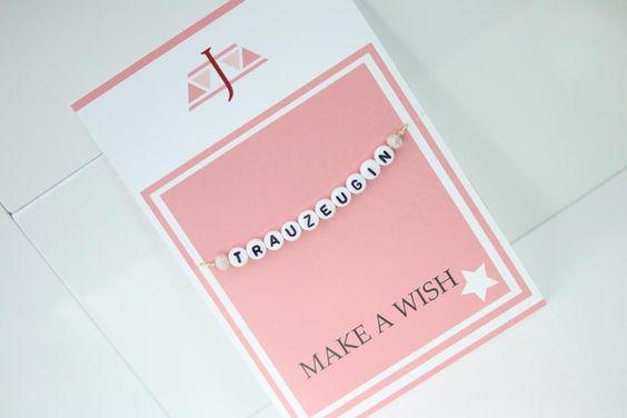 Trauzeugin Hochzeit Armband Champagner Perlen