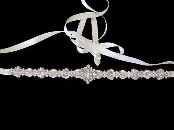 Bridal Wedding Dress Rhinestone Beaded Crystal by Tatishotties
