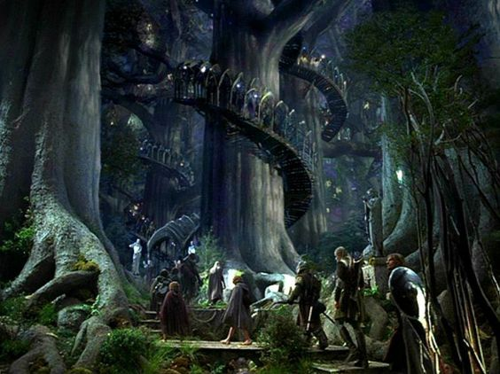 The second treehouse idea is something similar to Caras Galadhon, Lothlorien, Middle Earth. i need to be rich haha