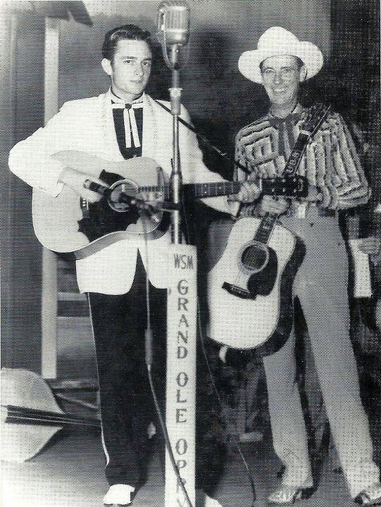 Johnny Cash and Ernest Tubb at the Grand Ole Opry