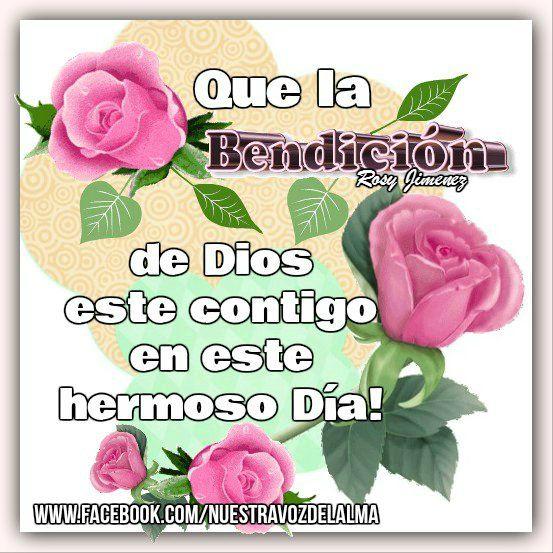 Que la Bendición de Dios este hoy y siempre con tigo!