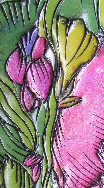 Hot Pink Floral Wall Hanging_DETAIL_300 | by artybecca