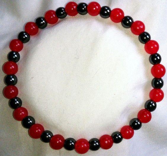 Hämatit Heilstein Perlen Armband