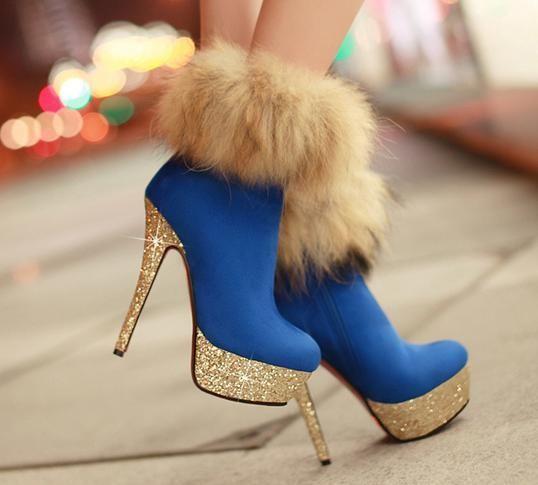 Fashion Fox sexy -High Heels Boots High Heel High Heels Boots (black,blue,red):