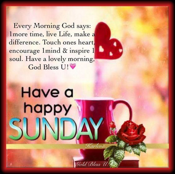 Good Morning Sunday...:)