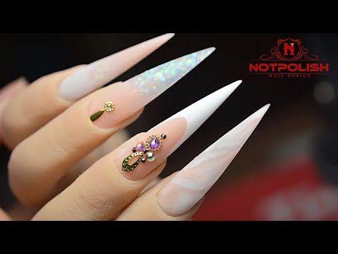 How To Do Prefect French Line Marble Acrylic Nail Design Tutorial I Notpolish I 2020 Nail Trend I Youtube Marble Acrylic Nails Acrylic Nail Designs Nails