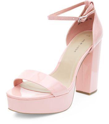 Black Comfort Pointed Sling Back Heels | Shops, Block heels and Pink