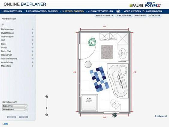 Cool The best Badplaner online ideas on Pinterest Badezimmerplaner Badezimmer qm and kleines Haus Layout