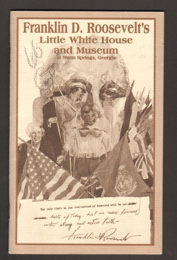 Undated Vacation Brochure Franklin Roosevelt Little White House and Museum GA