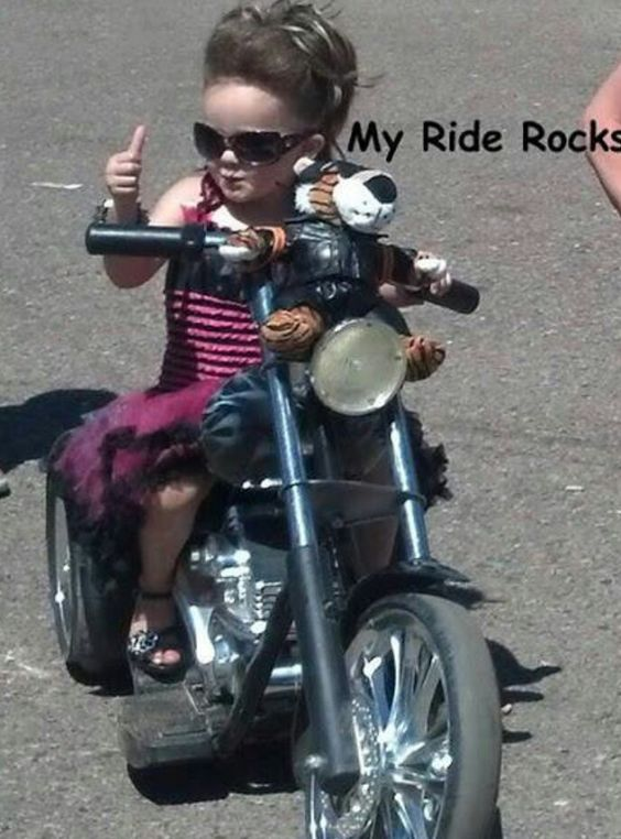 Biker chick, Biker baby and A grand on Pinterest