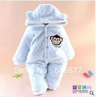Foreign trade more coral fleece ha clothes dot cartoon with hood ha clothing winter warm climb clothes HY081