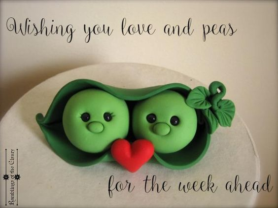 Wishing you love and peas for the week ahead #blessings #love #peas: