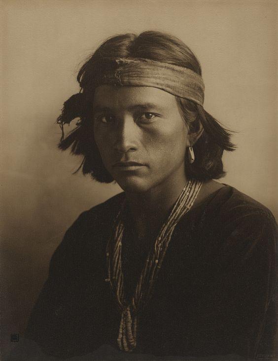 """[A Navajo Boy],"" Carl E. Moon, 1907. Gelatin silver print. J. Paul Getty Museum, Los Angeles, California:"