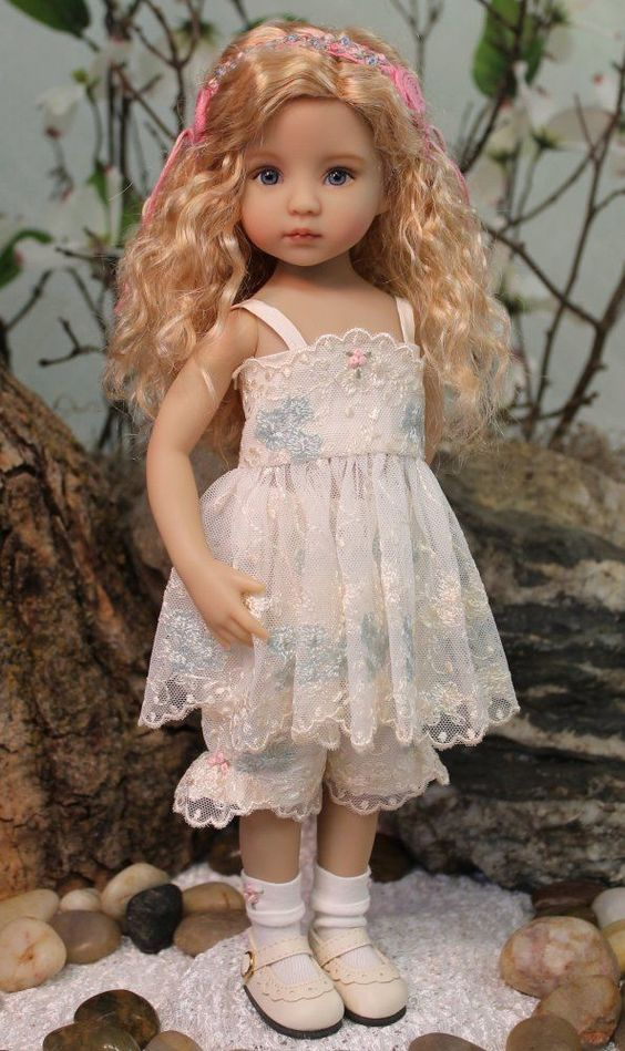 "Magalie Dawson has always made the most beautiful Doll CLOTHES...but now she is painting Diana Effner 13"" little darlings too! This is her first attempt - AMAZING!!! Plus - she is dressed in a OOAK Magalie Outfit too! FANTASTIC OPPORTUNITY!!! These dolls go for over $1000 in just their skivvys! http://www.ebay.com/itm/-/152124068819"