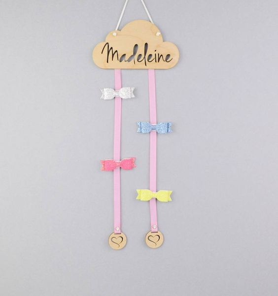 Personalised Hair Bow Hanger