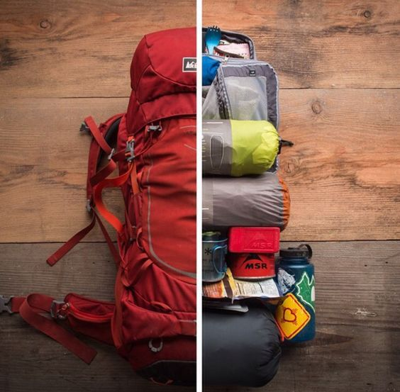 Nice demonstration of how to pack your camping/hiking gear
