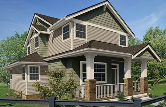 Vinyl siding styles colors and exterior home designs from Vinyl siding house plans