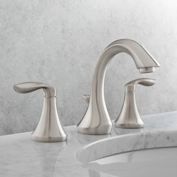 Buy Moen Eva Two Handle Widespread Bathroom Faucet Eva is a transitional  design that adapts well to virtually any