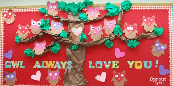 kindergarten valentine bulletin board ideas | Send us a picture of your Valentine's bulletin board at simplysprout@ ...