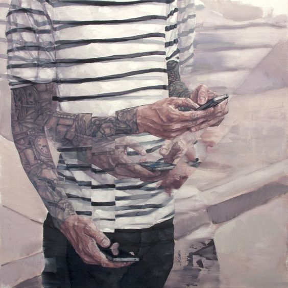 Blurred Painting by Adam Lupton.
