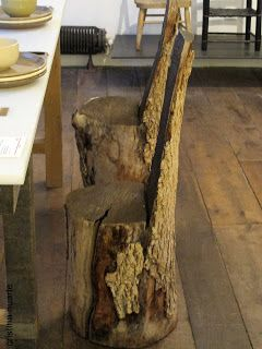Sillas hechas de troncos de madera muebles curiosos - Muebles con troncos ...