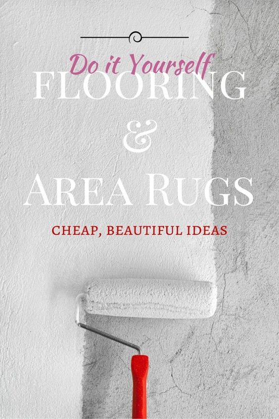 Cheap DIY Flooring Ideas And Area Rugs Ideas
