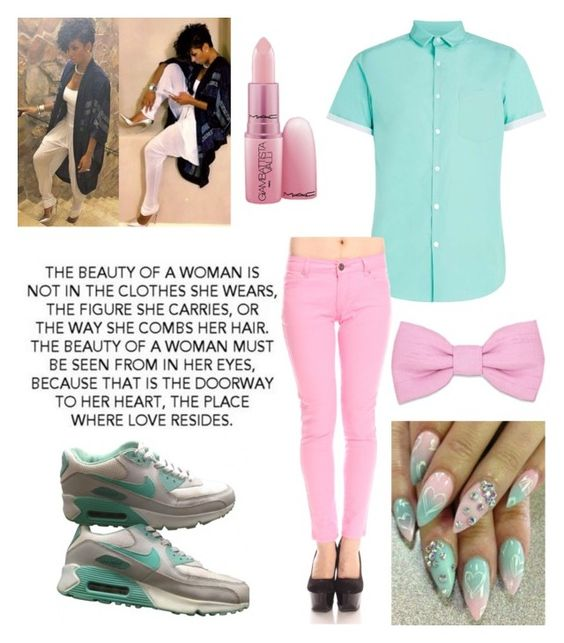 """""""Beauty of a women must be seen within her eyes"""" by jjadacoleman ❤ liked on Polyvore featuring Warehouse, NIKE and Giambattista Valli"""