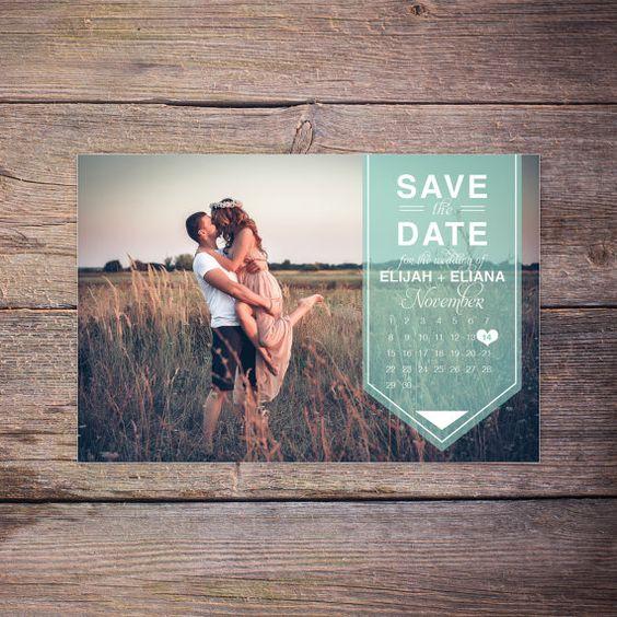 Modern Save the Date Postcard, Save-the-Date Card Photo, Postcard, Calendar Destination Wedding, DIY Printable, Digital File - Karson+Khole:
