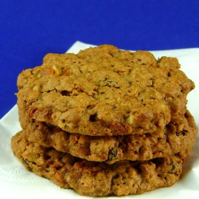 Crisp Cranberry and Carrot Oatmeal Cookies