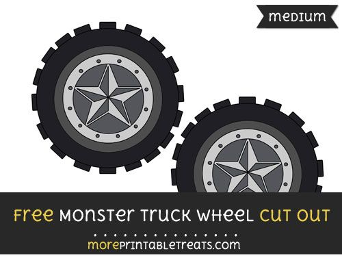 Pin On Monster Truck Party Printables