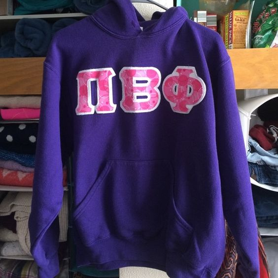 Pi Beta Phi purple Hoodie Super comfortable hoodie with vinyl letters. Check out my other listings for more Pi phi gear! Soffe Tops Sweatshirts & Hoodies