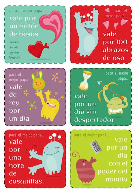 Do your kids need a last-minute #FathersDay gift? Print out these cute coupons featuring gift phrases en español!: