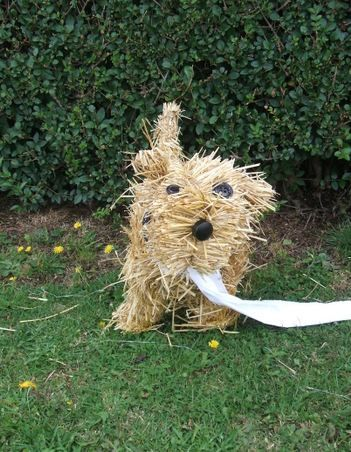If only dogs could clean up after themselves! From a campaign on dog fouling, but could be a good addition to a scarecrow.