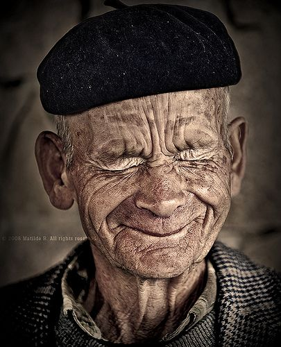 in-the-gloaming: A beautiful reminder that we are none of us as young as we once were, nor (hopefully) as old as we will someday be. oncewild: (by Matilde B.) The face made in response to the photographer telling him she was totally in love with his face.  I'd have to agree with her.