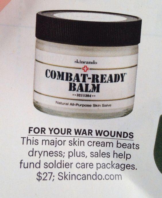 Combat ready face lotion. Moisturizer.